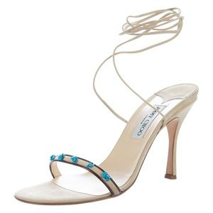 Jimmy Choo Embellished Suede Sandals